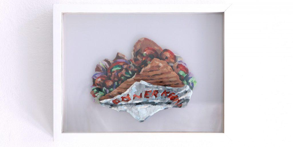 Henrik Jacob -Doener Kebab - Knetdoener - gerahmt