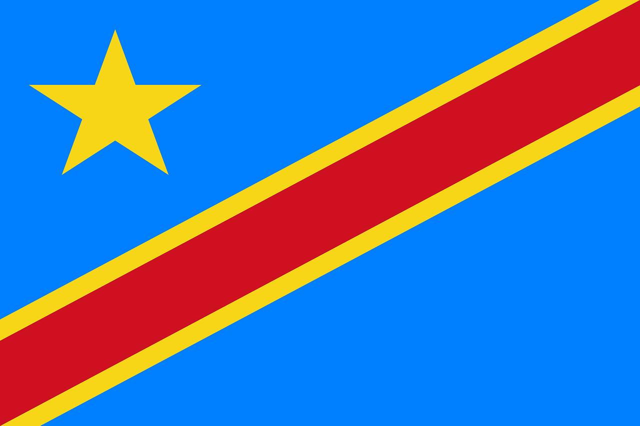 Flagge DR Congo